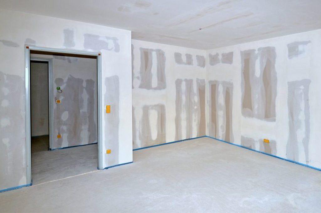 Eine Wohnung wird komplett renoviert.