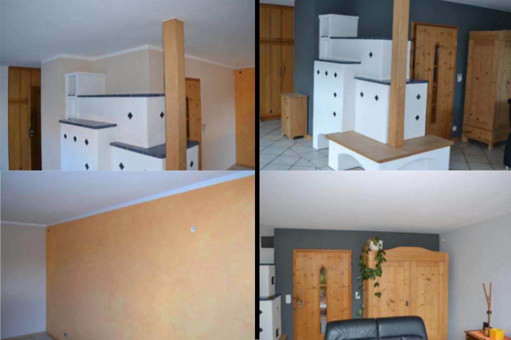 Malerarbeiten zur Neugestaltung eines Wohnraumes